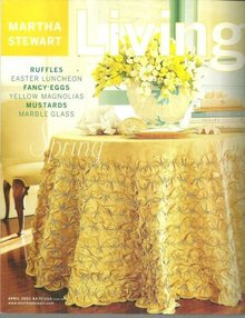 Martha Stewart Living Magazine April 2001 Spring on Cover