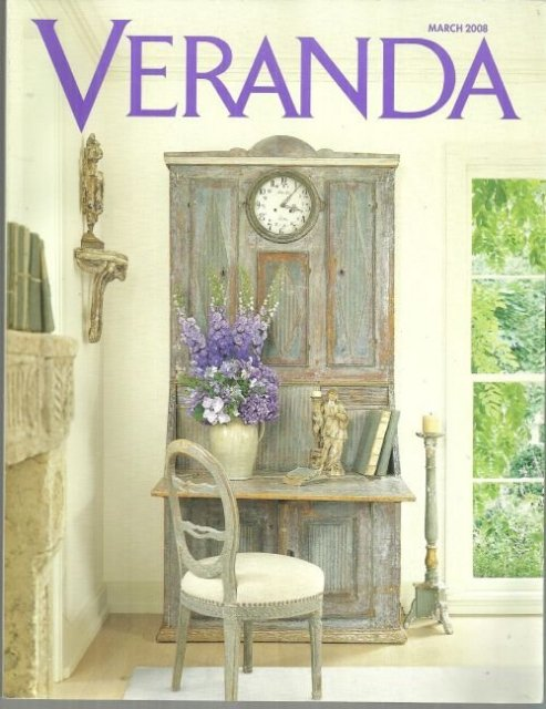 Veranda Magazine March 2008 Art and Antiques