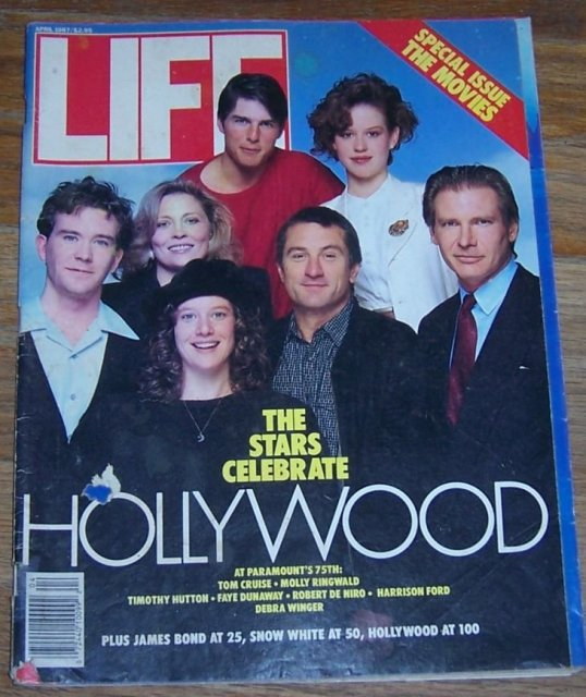 Life Magazine April 1987 Stars Celebrate Hollywood on Cover