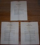 Set of Three Periodic Reports from Lawrenceville School for Merritt T Cooke 1899