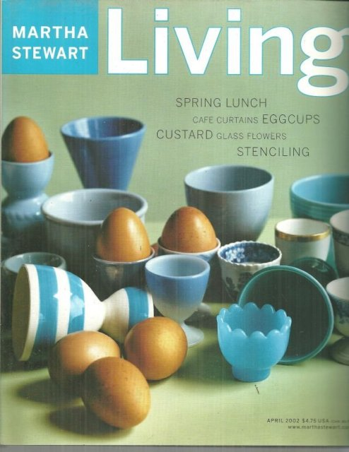 Martha Stewart Living Magazine April 2002 Eggcups on the Cover