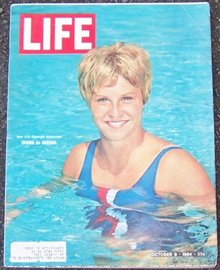 Life Magazine October 9, 1964 Donna de Varona Olympic Swimmer on Cover