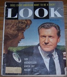 Look Magazine April 28, 1959 Can Rockefeller Knock Off Nixon on Cover