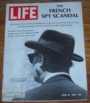 Life Magazine April 26, 1968 French Spy Scandal on cover