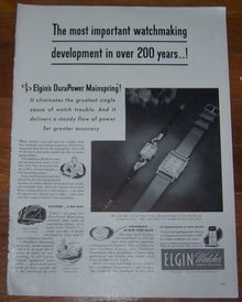 1947 Elgin Watches Life Magazine Advertisement