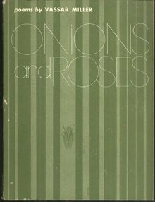 Onions and Roses Poems by Vassar Miller 1968 Poetry