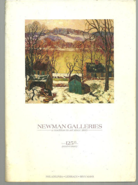 Newman Galleries Art Catalog with Price List Illustrated 125th Anniversary 1990
