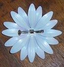 Vintage Purple Enamel Flower Pin