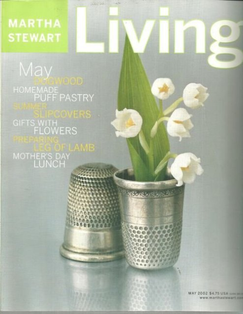 Martha Stewart Living Magazine May 2002 Mother's Day Album
