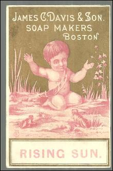 Victorian Trade Card James C. Davis and Sons Soap Makers Boston with Little Boy
