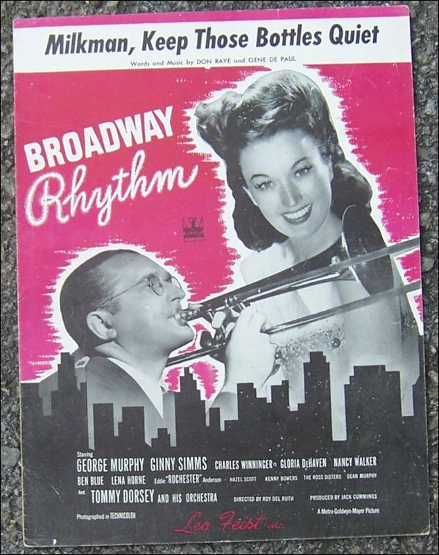 Milkman, Keep Those Bottles Quiet Ginny Simms and Tommy Dorsey 1944 Music