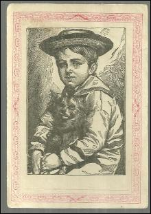 Victorian Trade Picture Lesson Quarterly Vol. 5 No. 4 1884 Sailor Boy and Dog