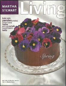 Martha Stewart Living Magazine May 1998 Pansies on a Chocolate Cake on the Cover