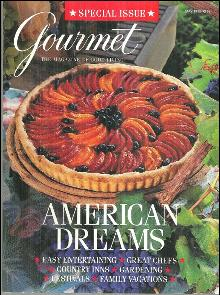 Gourmet Magazine May 1995 American Dreams. Tomato and Onion Tart On Cover
