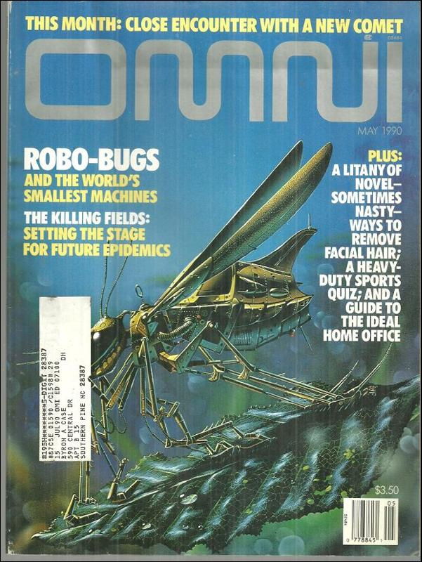 Omni Magazine May 1990 Robo-Bugs Cover by Tim White