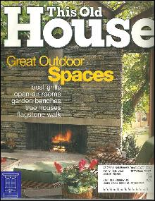 This Old House Magazine May 2003 Great Outdoor Spaces on the Cover