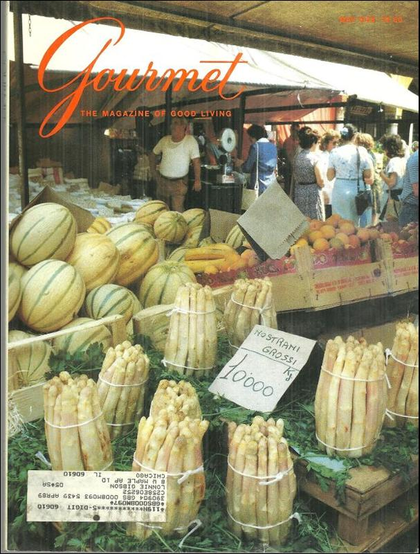 Gourmet Magazine May 1988 Padua's Piazza delle Erbe, Italy On Cover