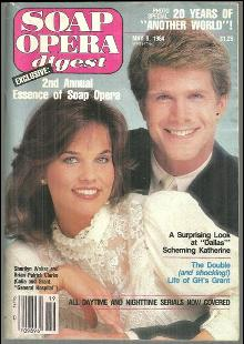 Soap Opera Digest Magazine May 8, 1984 Sherilyn Wolter and Brian Patrick Clarke