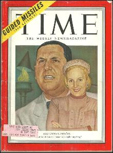 Time Magazine May 21, 1951 The Perons of Argentina on cover