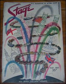 Stage Magazine May 1937 All Over the Map London on May 12th by Rebecca West