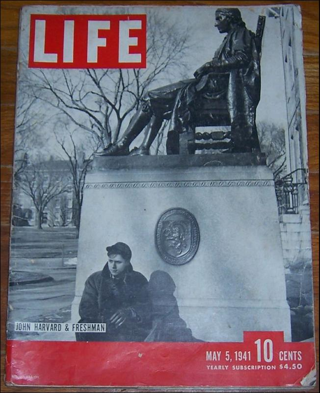 Life Magazine May 5, 1941 John Harvard and Freshman on cover