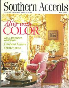 Southern Accents Magazine May-June 2001 Alive With Color on Cover