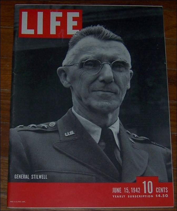 Life Magazine June 15, 1942 General Joseph Stilwell on Cover World War II Issue