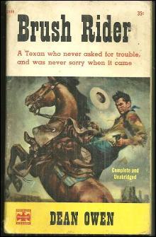 Brush Rider by Dean Owen 1959 Vintage Western Paperback