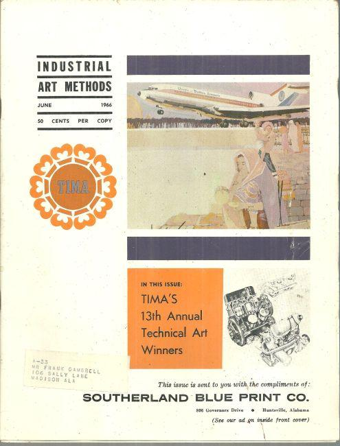 Industrial Art Methods Magazine June 1966 TIMA 13th Annual Technical Art Winners