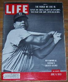 Life Magazine June 8, 1953 Roy Campanella, Baseball's Greatest Catcher on cover