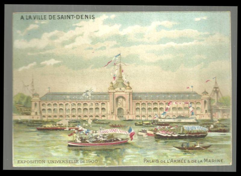 Victorian Trade Card for Ville de Saint Denis Exposition Unversellie de 1900