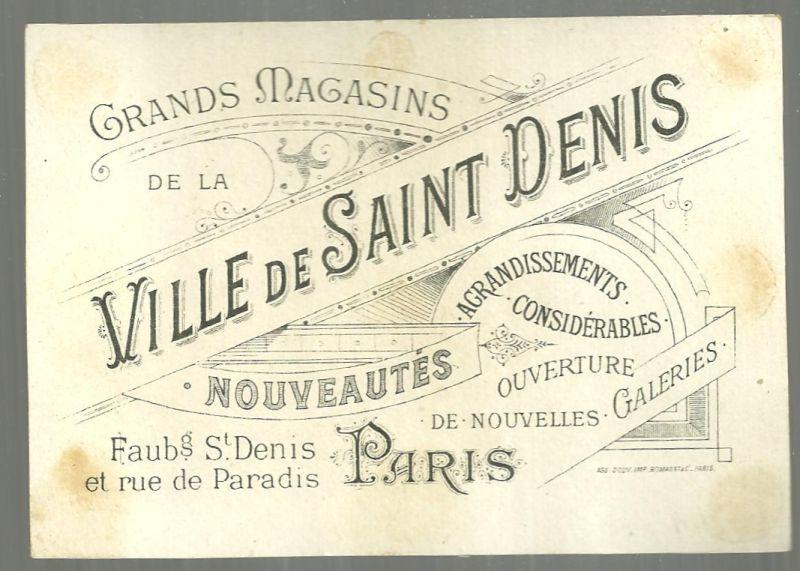Victorian Trade Card for Ville de Saint Denis Exposition Unversellie de 1900