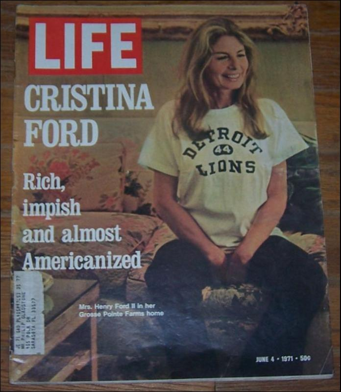 Life Magazine June 4, 1971 Christina Ford on cover