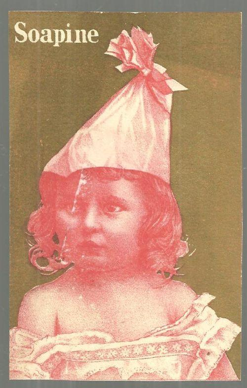 Victorian Trade Card for Soapine with Little Girl All Dressed Up