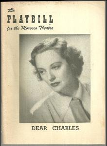 Playbill Tallulah Bankhead in Dear Charles, November 15, 1954 Morosco Theatre