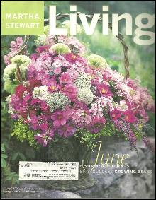Martha Stewart Living Magazine June 2000 Martha's Favorite Flowers on the Cover