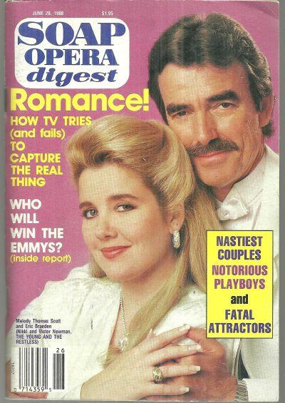 Soap Opera Digest June 28, 1988 Nikki and Victor Young and Restless Cover