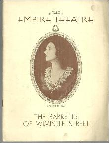 Playbill Katharine Cornell in the Barretts of Wimpole Street, November 30, 1931