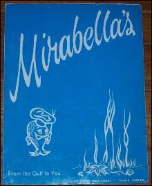 Vintage Menu for Mirabella's Restaurant, Tampa, Florida