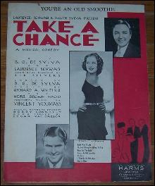 You're an Old Smoothie From Take a Chance Starring Ethel Merman 1932 Sheet Music