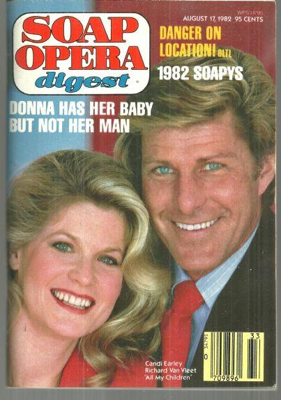 Soap Opera Digest August 12. 1982 Candice Earley and Richard Van Vleet AMC Cover