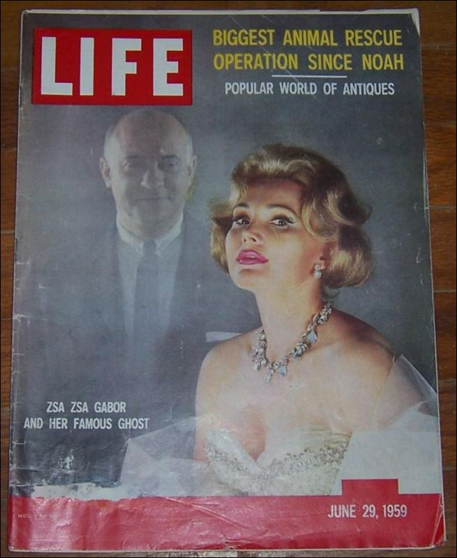 Life Magazine June 29, 1959  Zsa Zsa Gabor and Her Famous Ghost on cover