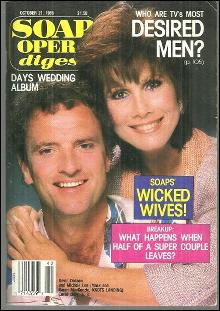 Soap Opera Digest October 21, 1986 Kevin Dobson and Michele Lee Knot's Landing
