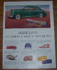 1941 Packard Clipper World War II Life Magazine Advertisement
