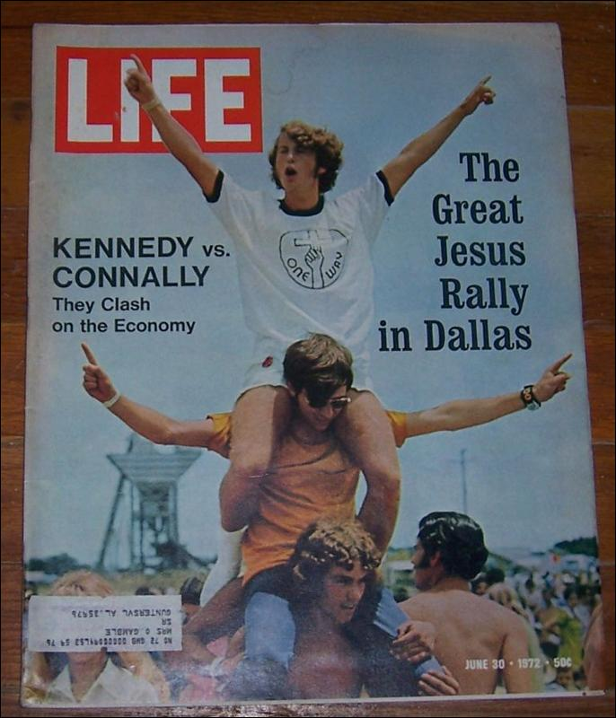 Life Magazine June 30, 1972   Great Jesus Rally in Dallas on cover