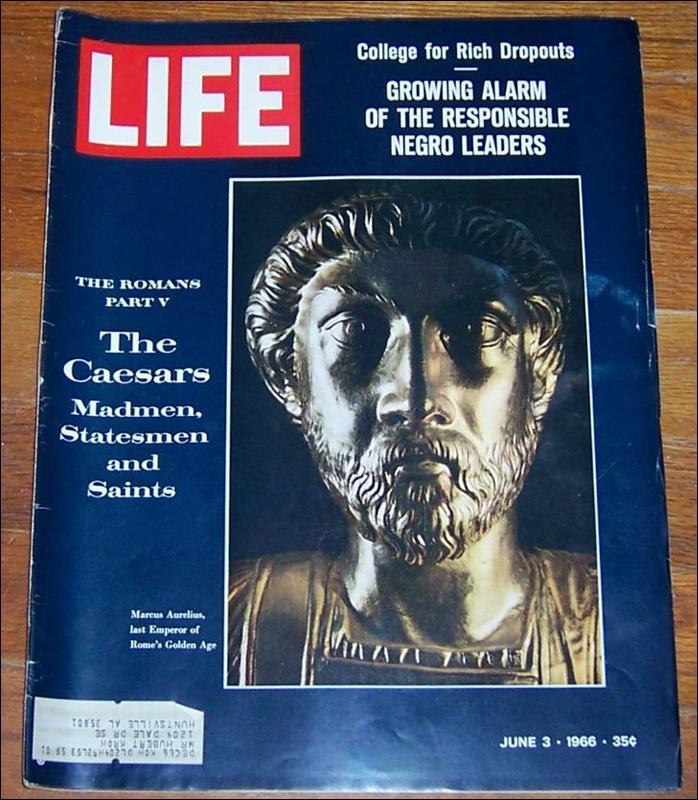 Life Magazine June 3, 1966 Marcus Aurelius on Cover Era of the Caesars