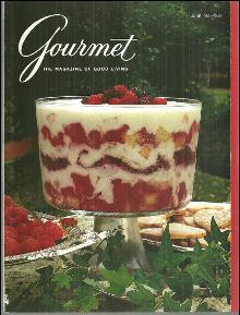 Gourmet Magazine June 1992 Apricot Berry Trifle on Cover