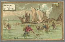 Victorian Trade Card for Chocolat de la Cie Francaise with Fisherman Normandie