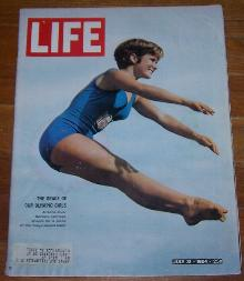 Life Magazine July 31, 1964 Barbara Talmage Olympic Diver on cover
