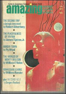Amazing Stories Magazine July 1971 Peacefulness of Vivyan by James Tiptree